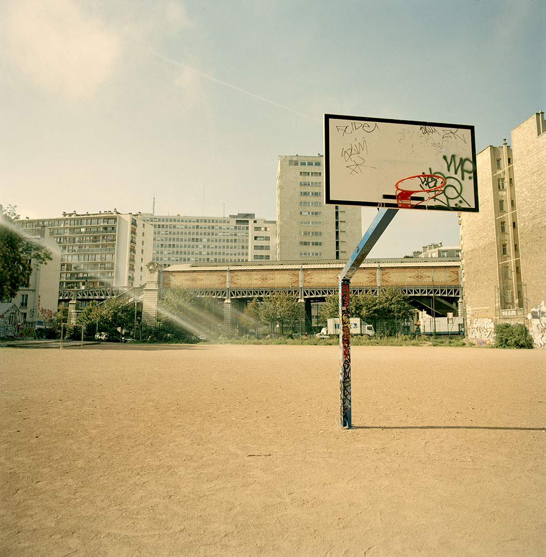 Basket ball court in Paris