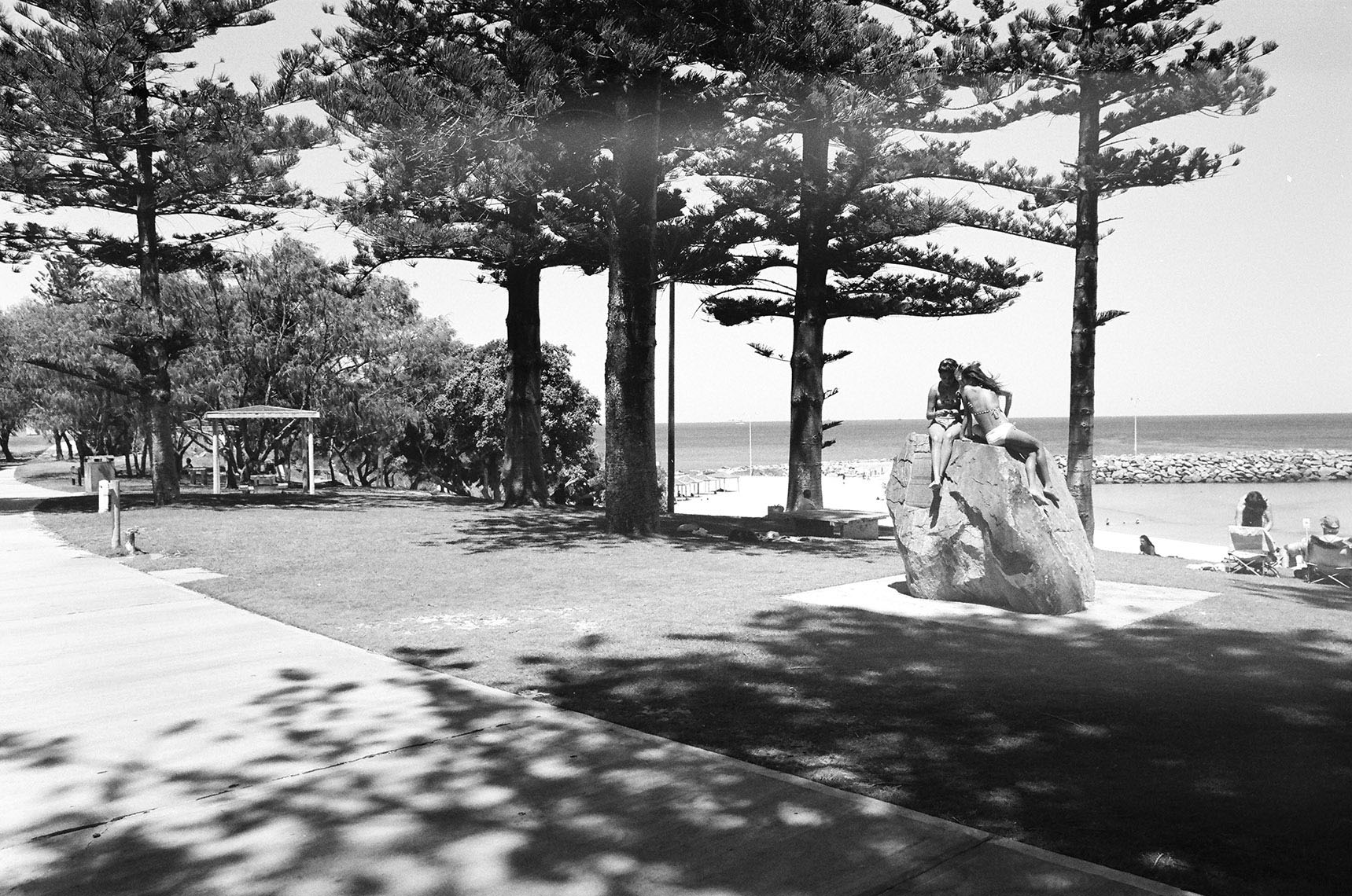 Two girls on the rock at Cottesloe