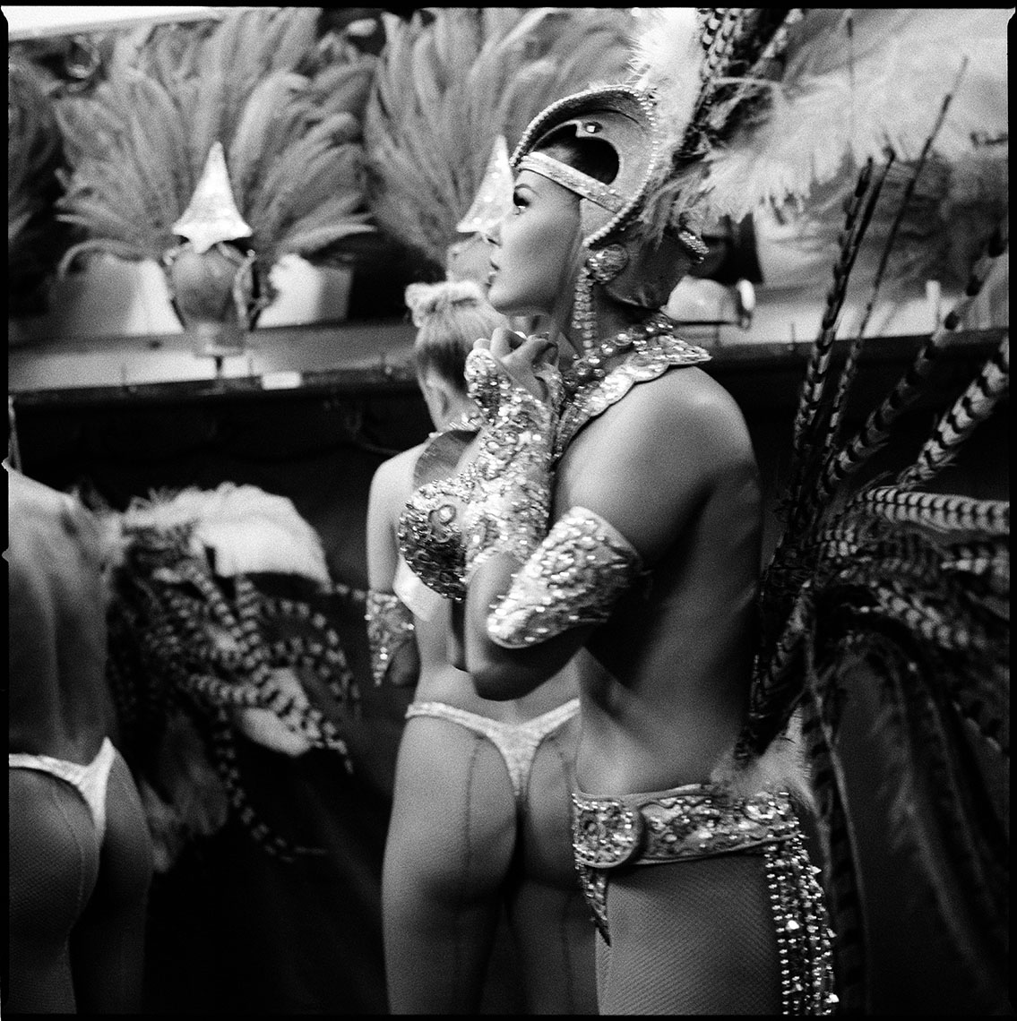 Backstage at Le Moulin Rouge in Paris